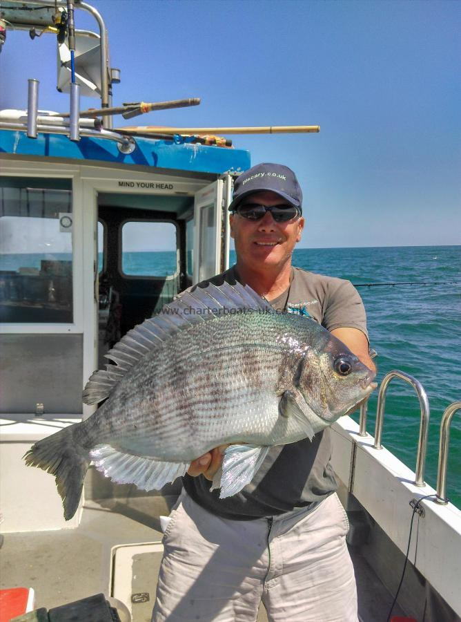 4 lb Black Sea Bream by Captain Matt